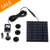 Wholesale Pool Water Garden Plants Watering Kit Solar Power Fountain Soar Pump Water Pump freeshipping
