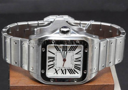 Wholesale new style Stainless Steel Automatic Men Large Model Silver Mens Sport Wrist Watche