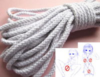 Unisex adult cottons - Shibari Kinbaku Bondage Cotton Sex Rope Japanese Art SM Game Foot Hand Body Restraint Adult XLY756
