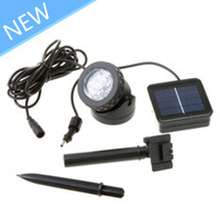 Wholesale Outdoor Solar Powered LED Spotlight Garden Pool Waterproof Spot Light Lamp Freeshipping AAA