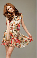 Wholesale Mosaic decorative pattern belt flowers snow spins color Dress
