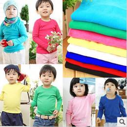 Wholesale 2013 New Children Clothing Girls amp boys CottonT shirt Candy Color T shirt Children s Clothes hz6
