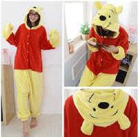 Wholesale New Kigurumi Pajamas Anime Winnie the Pooh Cosplay Costume unisex Adult Onesie Hot Dress