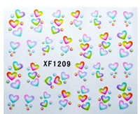 Wholesale XF1209 Low price XF nail stickers simulation flower water slide nail decal paste can maintain month