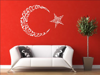 Wholesale Decals Wall paper Decor Murals Home stickers Art Vinyl No18 NEW Islamic Moon star