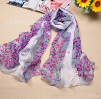 Wholesale New Lady s Scarf Hyper Fashion Printed Chiffon Scarves Sarongs Small Floral Scarfs FX0220