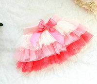 Wholesale 2016 Spring Cute Girls Colorful Tutu Skirt Kids Tull Tiered Butterfly Skirt Yellow Green in stock