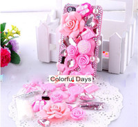 Wholesale Hot Super Deal Fashion Design Pink Lolita Styled DIY Mobile Phone Shell Deco Den Kit