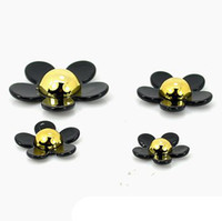 Wholesale 2 sets Resin Plastic Fashion Black Flowers Pieces set Mobile Phone Jewellery Accessories