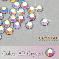 Wholesale Crystal AB DMC SS6 Loose Flat back hot fix Iron on rhinestones with Glue for Nail Art Beauty