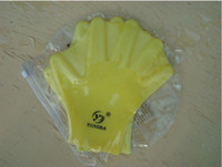 Wholesale 100 Silicone Gloves For Swimming Full Finger Pink Blue Yellow CM One Size Fits Most