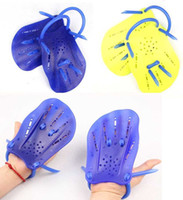 Wholesale 100 High Quality Swim Paddles Blue Yellow S M Pairs