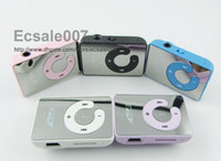 Wholesale Hot Selling Mirror Clip MP3 Player Support TF MicroSD Card With Earphone amp USB Cable amp Box colors