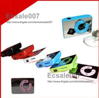 Wholesale Fashion New Mirror Clip MP3 Player Support TF MicroSD Card With Earphone amp USB Cable amp Box Multi color