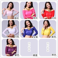 Belly Dancing Ruffled elastic polyester mesh promotion dancing belly dance semi-gauze long sleeve tribal top tops&tees shirt blouse wear