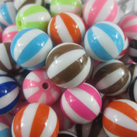 Wholesale Mixe mm Resin Watermelon Bubblegum Beads