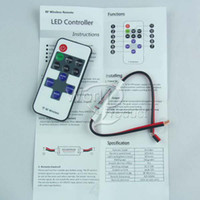 Wholesale Hot Wireless Mini RF LED Remote Controller LED Single Color Dimmer for