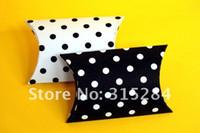 Cheap FREE SHIPPING- Dot Pillow Box Wedding Favor Boxes (XY-A13)