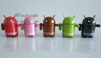 Universal google android mini speaker - Recommend Collectibles Mini Google Android Robot Speaker FM With Micro SD Card for Phones PC