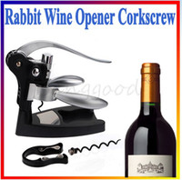 Wholesale Hot Selling Rabbit Red Wine Opener Tool Cork Bottle Tire Corkscrew Collar Pourer Gift Set