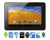 Wholesale 7 inch A13 GSM Phone Call Tablet PC GHz Android OS MB GB WiFi SIM Card Dual Camera