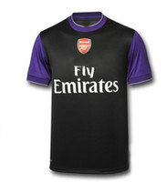 Wholesale new Arsenal T SHIRT soccer jersey brand black t shirt purple sleeves jerseys cheap hot sell