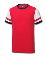 Wholesale new Arsenal T SHIRT soccer jersey brand red t shirt sleeves jerseys cheap hot sell