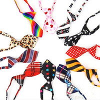 Wholesale Hot Selling Handsome Adjustable Pet Dog Cat Necktie Puppy Bow Tie Collar Patterns