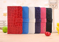 Wholesale Crocodile PU Leather folio stand wallet case credit card slot for Blackberry Z10 mix colors
