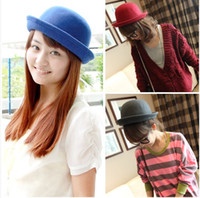 Wholesale Hot Selling New Retro Style Wool Stunning Gracious Women Cute Trendy Bowler Derby Hat Cloche