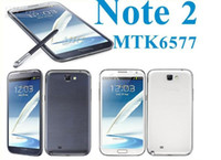 Wholesale 1G RAM N7100 NOTE MTK6577 Android Cell Phone Dual Core quot Dual Sim G WIFI MP GPS MTK6575