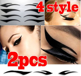 Wholesale Hot Selling Pair Styles Sexy Temporary Eye Tattoo Eyelid Transfer Eyeliner Sticker Dress