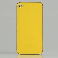 al por mayor iphone bisel trasero de cristal-Cubierta de cristal de la cubierta trasera + Asamblea del marco del bisel para el espejo del oro amarillo de Iphone 4S B / Side