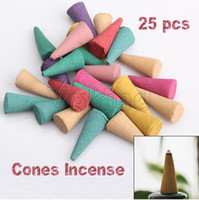Floral   Hot Selling 25 Mix Stowage Triple Scent Colorful Fragrance Incense Cones Potpourri