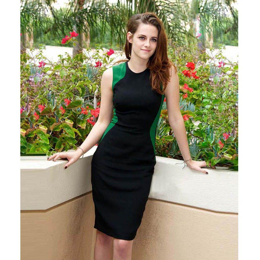 2013 Hot Fashion Western Women's Dress Kristen Style Black Dress ...