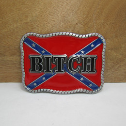 BuckleHome Rebel belt buckle confederate belt buckle pewter finish FP-03200 with continous stock free shipping