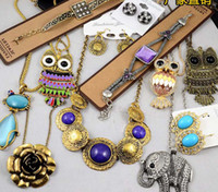 Wholesale Vintage Style Jewelry Mix Necklace Pendant Bracelet Earrings Sold By Weight g