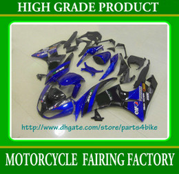 NEW! Blue black fairing body kit for Kawasaki Ninja ZX 6R 2009 2010 2011 ZX6R 09 10 11 Fairings RX2A