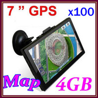 Wholesale DHL Hot selling inch Car GPS Navigator MB GB With FM map RW GN04