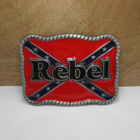 Wholesale BuckleHome rebel belt buckle with pewter finish FP with continous stock