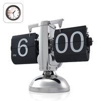 Wholesale 10 Retro Modern Metal Scale Digital Auto Flip Single Stand Metal Desk Table Clock
