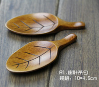 ECO Friendly bamboo tea spoon - Glandulifera Tea Spoon Bamboo Stirring Rod Tablespoon Spoons Rice Scoop Tableware Styles