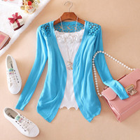 Wholesale Korea Women Sweater Knitted Cardigans Basic Style V Neck Candy Color Soft Cotton Free Size Colors