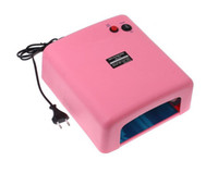 Wholesale 36W V Pink Nail Art Equipment UV Gel Lamp Curing Light Nail Dryer Tools Set Freeshipping