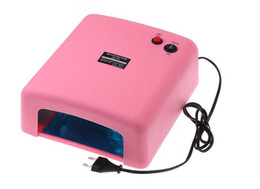 Wholesale Better Material Pink W V Nail Gel Curing UV Lamp with x W nm UV Bulb US Plug