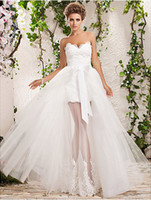 Refined 2013 Wedding Dresses A- Line Strapless Ruched Tull Ap...