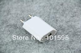 Adaptador libre de la CA del cargador de la pared del USB de la UE del envío 5V 1A para el iPhone 3G / 3GS / 4 G desde 3g usb libre fabricantes
