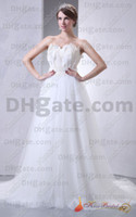 Model Pictures empire waist - New Custom Made Strapless Crystal Beads Sash Pleated Organza White Empire Waist Wedding Dress H0418