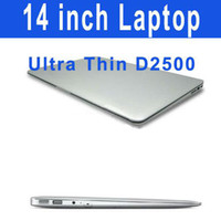Wholesale 14 inch Dual Core Netbook Intel Atom D2500 Dual core Laptop GB GB HDD G DDR3 thin Windows Notebook PC