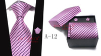Wholesale Mens formal Ties Necktie set fashion colors hot sales with noble retail box